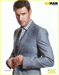 Scott Foley posing for a feature in Da Man magazine's February/March 2014 issue