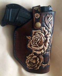 Ivory Roses ladies leather holster for a p-22 by Saxonleatherart