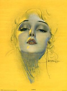 Rolf Armstrong 1929 Large Pin Up Poster Sized Print Cherie Art Deco Flapper RARE | eBay