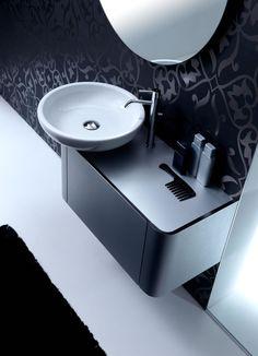 Very Elegant Rounded Bathroom for Small Minimalist Bathroom by Karol Silver Chrome Color1