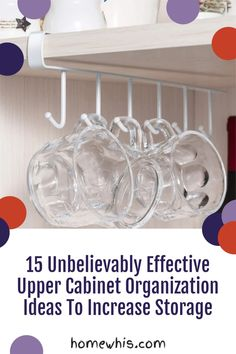 Low on kitchen cabinets storage space? Have trouble finding what you need? Here are 15 organization ideas that'll keep your cabinet clutter free and looking organized. If you love to cook, then you'll surely find these tips useful.Start organizing your upper and lower cabinets now with these 15 organization ideas! #homewhis #cabinetorganization #homeorganization #pantryorganization #spiceorganization #declutter Small Kitchen Organization, Fridge Organization, Organization Hacks, Organizing, Spice Holder, Spice Rack Organiser, Sink Organizer, Cabinet Spice Rack, Kitchen Cabinet Organization