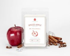 #Spiced #Apple Wax Tart  Classic and enticing, this #fall bouquet combines the crisp scent of red #Washington apples with spiced notes of freshly ground #cinnamon and #clove to create a warm and inviting #aroma.  #JewelScent #Ring #Bling #Discover #Dazzle #Sparkle #Shine #Tart #Wax #Red #Brown #Warm #Warmth