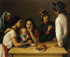José Agustín Arrieta La familia mexicana (La pensativa) 1851. Oil on Canvas