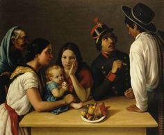 José Agustín Arrieta La familia mexicana (La pensativa) 1851. Oil on Canvas