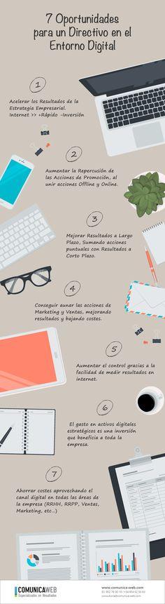 7 oportunidades para un Directivo en el entorno digital #infografia #infographic #rrhh