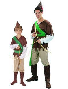 Costume di coppia da eroe del bosco per padre e figlio  Travestimento da  paladino dei ead5f5b4a93b