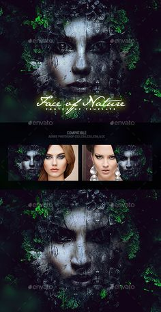 Face of Nature Photo Template PSD. Download here: https://graphicriver.net/item/face-of-nature-photo-template/17675402?ref=ksioks