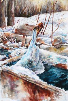 Watercolor by Corinne IZQUIERDO France www.corinne-izquierdo.com