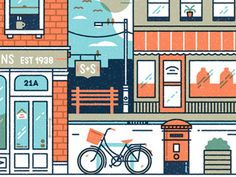 Here's a crop from an editorial illustration we worked on recently.  It's part of a larger piece on shopping and retail.