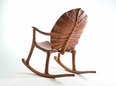 "...""rainforest rocker""..detail view...alby johnston...furniture designer..maker....byron bay..new south wales..australia...primarily wood..."