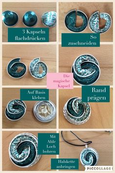 Nespresso capsule crafts – Famous Last Words Dosette Nespresso, Recycled Jewelry, Coffee Pods, Diy Schmuck, Bijoux Diy, Beads And Wire, Jewelry Crafts, Jewelery, Jewelry Making