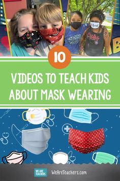 10 Videos to Help Students Understand How to Wear a Mask. Wearing a mask helps prevent the spread of COVID-19. These mask videos for kids and teens explain how and why to wear one. #masks #health #healthystudents #videos #teaching #teachers Classroom Behavior, Classroom Ideas, Cute Songs, Science Guy, How To Teach Kids, Beginning Of The School Year, Picture Cards, Learning Resources, Health Education
