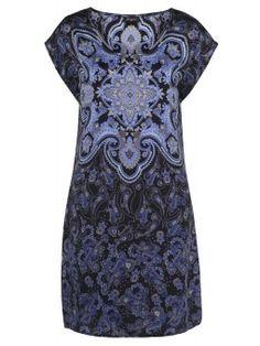 'Kim' Silk Cap Sleeve Shift Dress