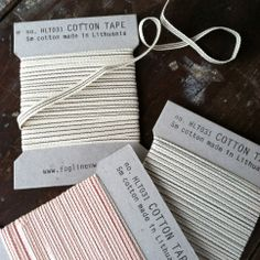 Striped Cotton Tapes