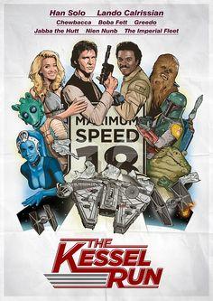 The Kessel Run [Cannonball Run Spoof Movie Poster]