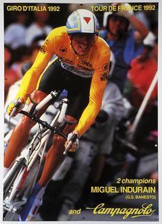 Campagnolo - Miguel Indurain 1992 Tour de France and Giro d'Italia Winner Poster