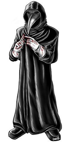 SCP 049 / Plague Doctor DV1 (Draw Version 1) by Malebeja.deviantart.com on @DeviantArt