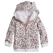 Jumping Beans® Cheetah Fleece Hoodie - Baby