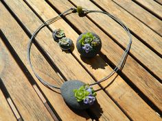Succulents collection by Chama Navarro. #bijoux #jewerly #succulents #earrings #polymer_clay