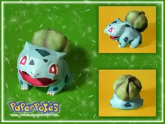 001 / BULBASAUR - Pokémon Papercraft Name:  Bulbasaur Type:  Grass/Poison Species:  Seed Pokémon Height:  0.7 m (2′04″) Weight:  6.9 kg (15....