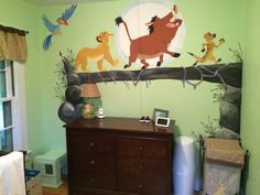 Our boys lion king themed room