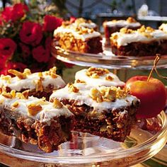 """Chunky Apple Cake: My """"go to"""" when we need a taste of fall. I don't use frosting."""