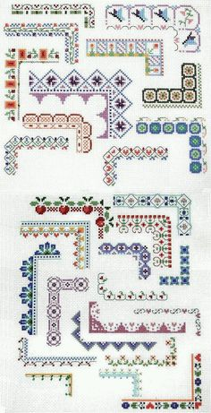 Punto De Cruz Counted Cross Stitch Design: Bountiful Borders - Crafting For Holidays Cross Stitch Boarders, Counted Cross Stitch Patterns, Cross Stitch Charts, Cross Stitch Designs, Cross Stitching, Cross Stitch Embroidery, Embroidery Patterns, Hand Embroidery, Cross Stitch Flowers Pattern