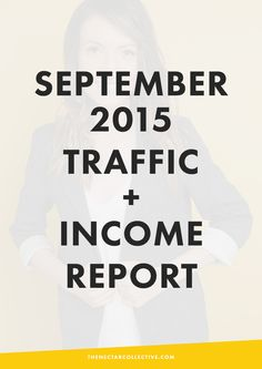 September 2015 Traffic and Income Report | In September, I earned over $30,000 from my blog and online business as an infopreneur. Learn exactly what I did and which strategies helped me most to increase my income this month!