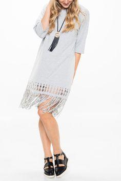 Datu Fringed Laser Dress