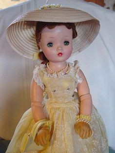 MADAME ALEXANDER VINTAGE, USED, HARD PLASTIC CISSY DOLL IN TAGGED, SUPER MINT SH