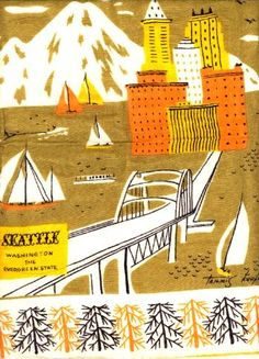 Tammis Keefe Seattle Design: Pre- Space Needle where the Smith Tower is the tallest building!