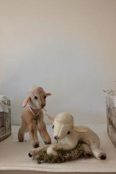 Lammetjes gemaakt van oude dekens