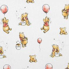 Winnie The Pooh Honey Pot Cotton Fabric White - Winnie The Pooh Tattoos, Winnie The Pooh Drawing, Winnie The Pooh Pictures, Winnie The Pooh Honey, Winne The Pooh, Disney Winnie The Pooh, Vintage Winnie The Pooh, Cartoon Wallpaper Iphone, Bear Wallpaper