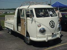 Custom Volkswagen bus at Brenengen Chevrolet car show in West Salem, WI