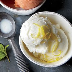 Summer Desserts   Lemon Verbena-Buttermilk Sherbet   CookingLight.com