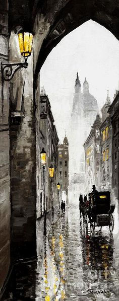 Old Street ~ Yuriy Shevchuk! I can almost hear the clipclop of the horse as it pulls the carriage further into the distance