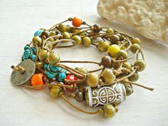 Ankle Bracelet  Boho Jewellery  Hippie Ankle by HandcraftedYoga, $35.00
