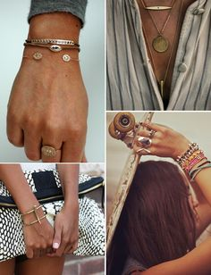 Accessories-Statement_Necklace-Rings-Gold-Collage_Vintage-