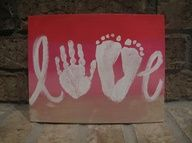 Canvas using childs hand and feet
