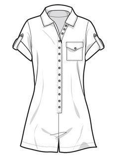 Fashion Design Sketchbook, Fashion Sketches, Art Sketches, Fashion Flats, Fashion Art, Fashion Outfits, Fashion Drawing Tutorial, Fashion Illustration Dresses, Clothing Sketches