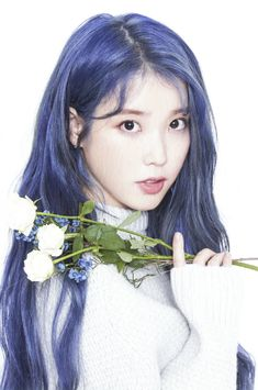 Read 💜 from the story IU Photo🌷 by Bayan_Gucci (Zeyna) with 668 reads. Diy Hair Dye, Dyed Hair, Purple Hair, Ombre Hair, Bright Blue Hair, Kpop Girl Groups, Kpop Girls, Iu Hair, Korean Girl