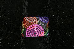running headband, sport headband, yoga headband, fitness headband, wide headband, spandex headband, neon rainbow circles fireworks headband by GoOutsideAndPlayUSA on Etsy