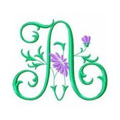 Free Embroidery Machine Design Monogram 72- A   Gosia Design
