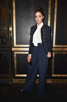 A guest attends the Gold Obsession Party - L'Oreal Paris : Photocall as part of the Paris Fashion Week Womenswear  Spring/Summer 2017  on October 2, 2016 in Paris, France.