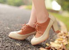 Vintage Autumn Oxford Heeled Shoe