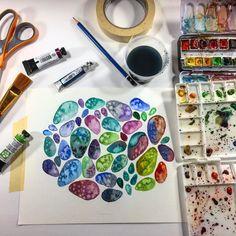 Josie Lewis Watercolor Pattern Technique