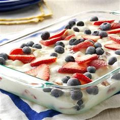 Patriotic Frozen Delight Recipe | Taste of Home