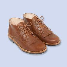 Chaussures montantes en cuir,Fille