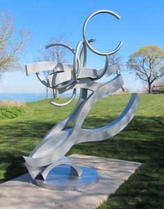 """""""Turbulence"""" by Denis J Folz www.steel-oil-wood.com Painted Steel"""