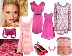 """""""Think Pink"""" by closetdash on Polyvore"""